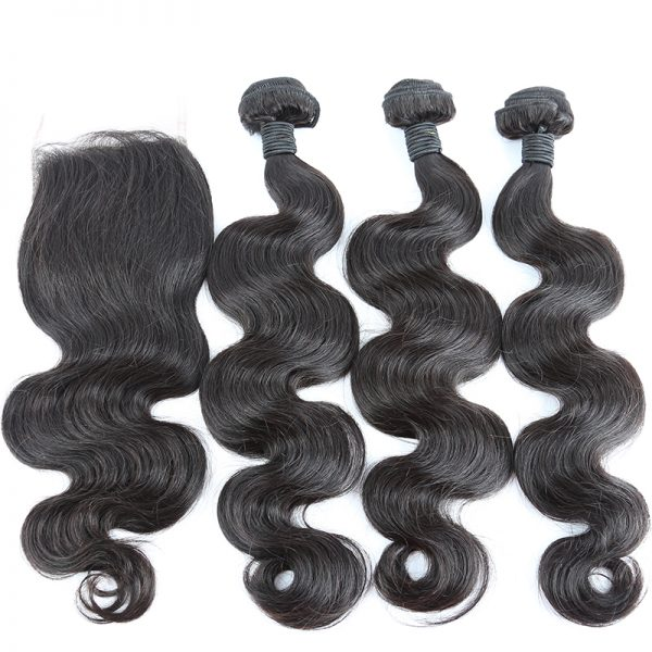 3 bundles with closure body wave hair product 01
