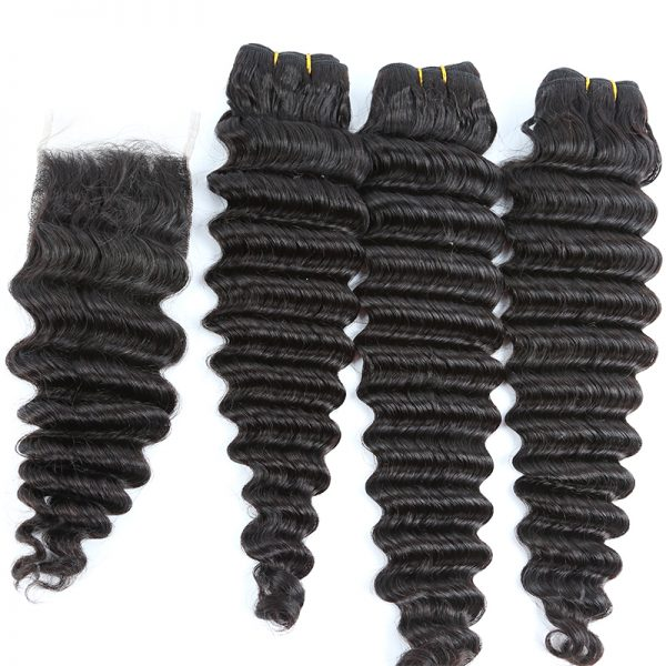 3 bundles with closure deep wave hair product 02