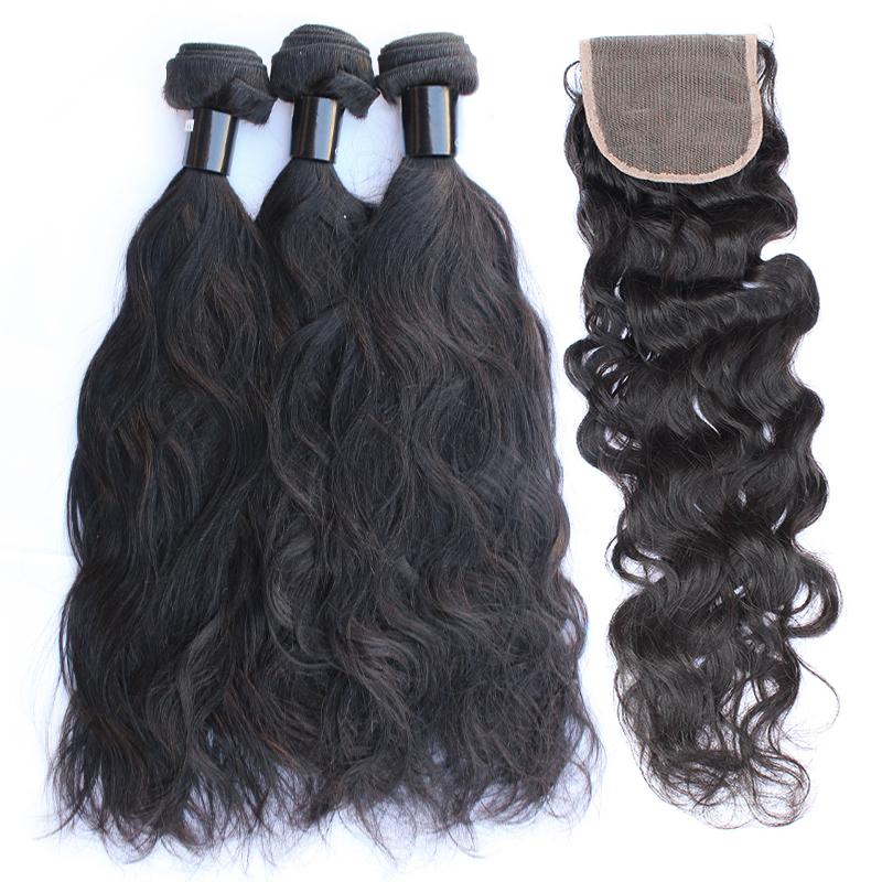 3 bundles with closure natural wave hair product 02