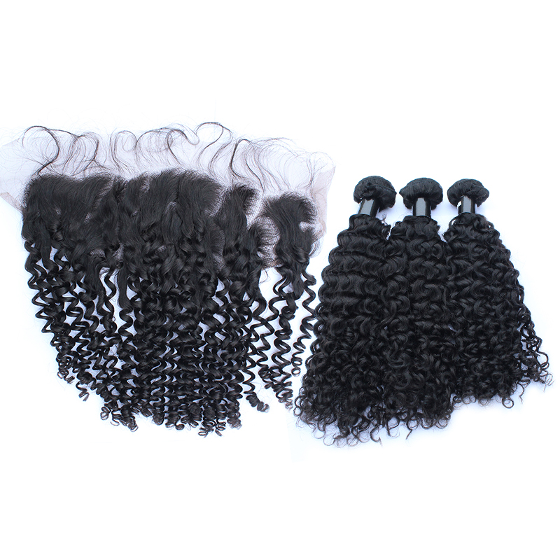 3 bundles with frontal curly hair product 01