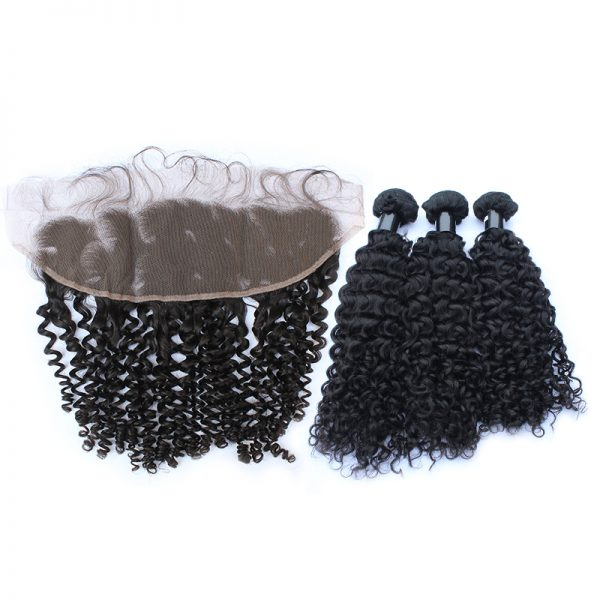 3 bundles with frontal curly hair product 02