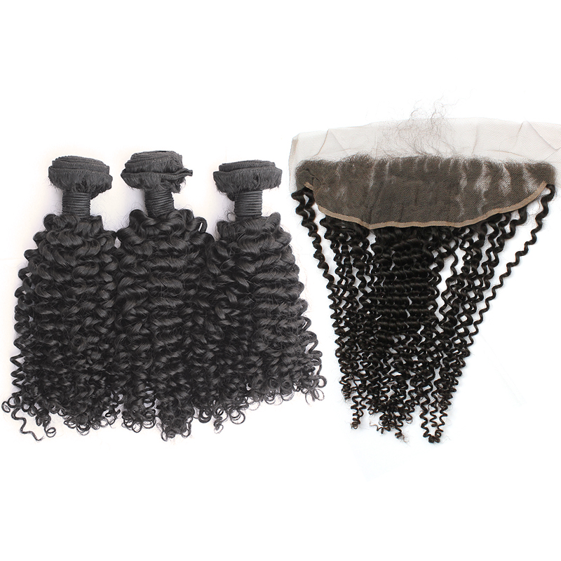 3 bundles with frontal kinky curly hair product 02