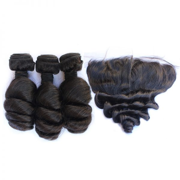 3 bundles with frontal loose wave hair product 01