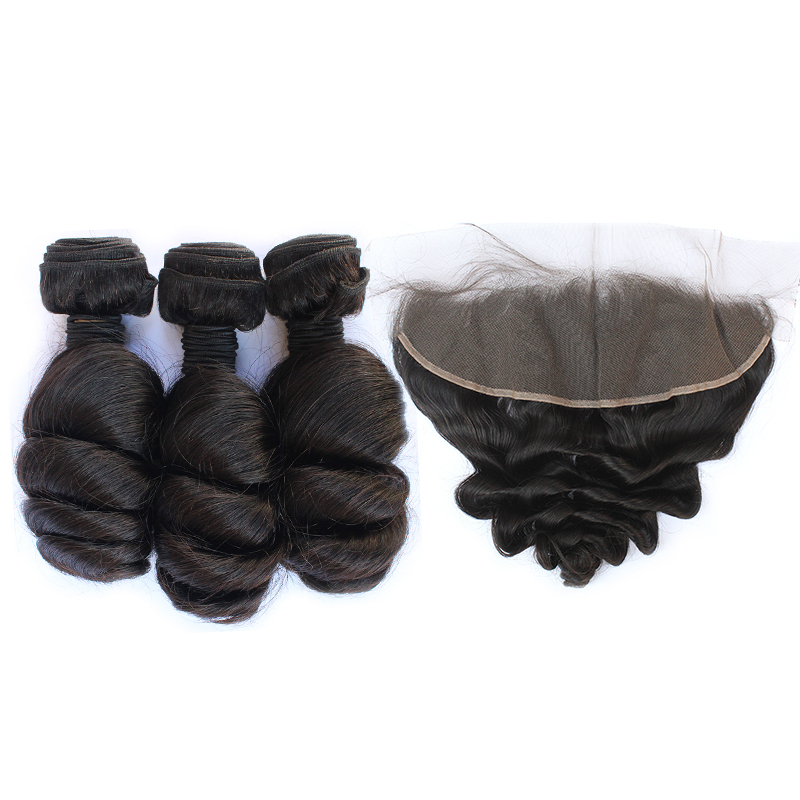 3 bundles with frontal loose wave hair product 02