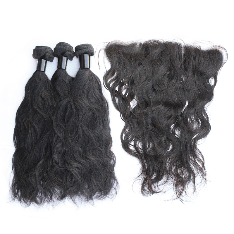3 bundles with frontal natural wave hair product 01