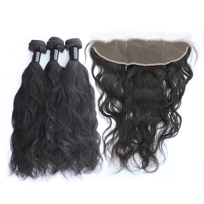 3 bundles with frontal natural wave hair product 02