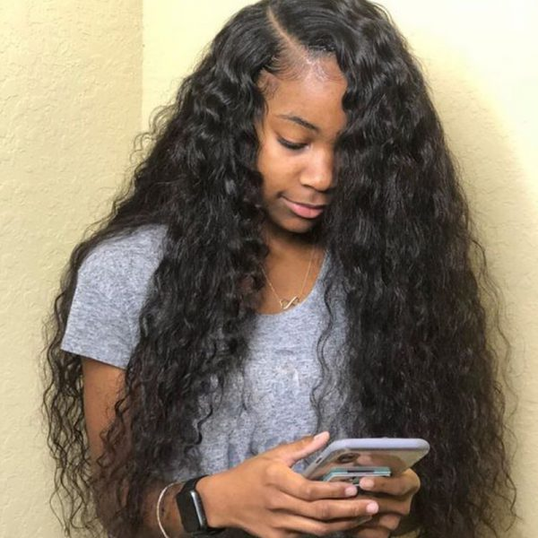 natural wave hair model pic show 01