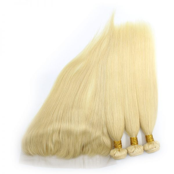 3 bundles with frontal straight blond hair product 02